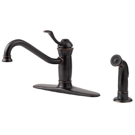 shop pfister wakely tuscan bronze low arc kitchen faucet