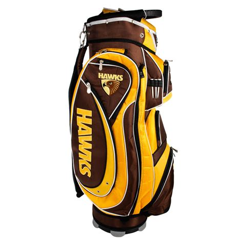 Golf Standbag Golf Pgf afl hawthorn hawks cart style golf bag sportitude