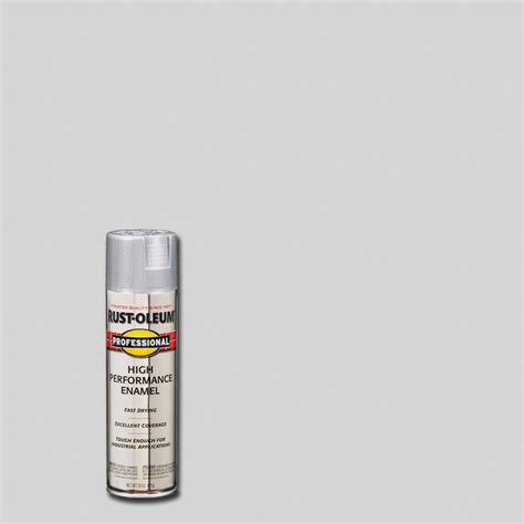 rust oleum professional 15 oz aluminum gloss spray paint of 6 7515838 the home depot