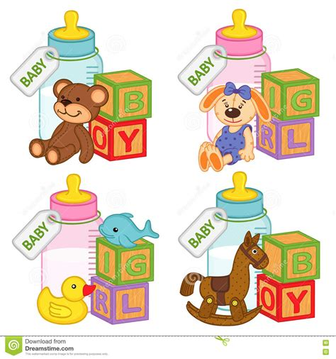 toys and accessories toys and accessories for baby and boys stock vector image 73595677