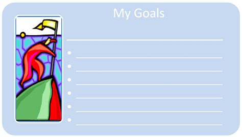 goal card template goal tracker adventures in wisdom