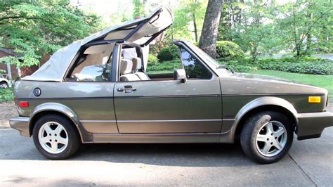 volkswagen cabrio introducing the 1989 vw cabriolet retro review 89