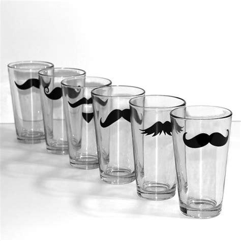 fun barware mustache pint glass set fun wedding birthday party