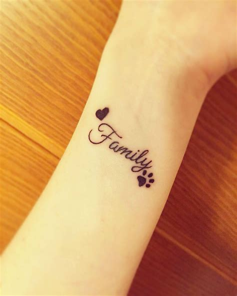small family tattoo small cost it may not always be less money
