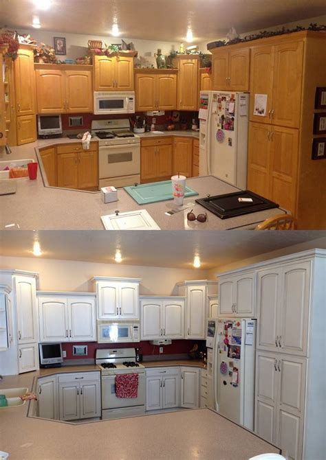 how to paint brown cabinets white how to paint white kitchen cabinets brown home