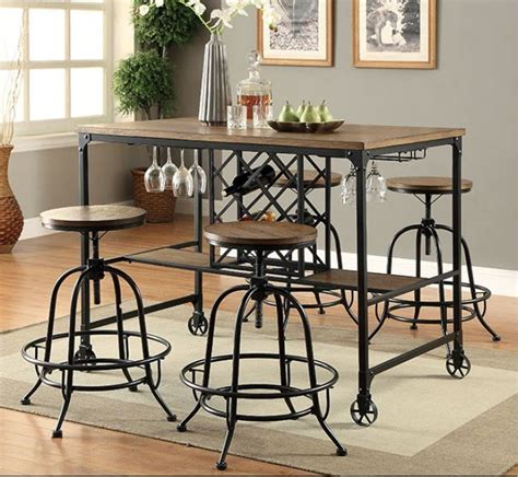 Vegas Storage Bar Table Counter Collection Las Vegas Furniture Store Modern Home Furniture Cornerstone
