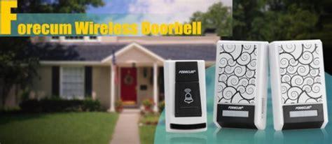 Terbaik Forecum Wireless Doorbell Bel Alarm Pintu Rumah Waterproof Forecum Bell Pintu Wireless 36 Tunes Black
