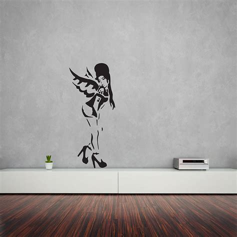 banksy amy winehouse vinyl wall art decal  vinyl