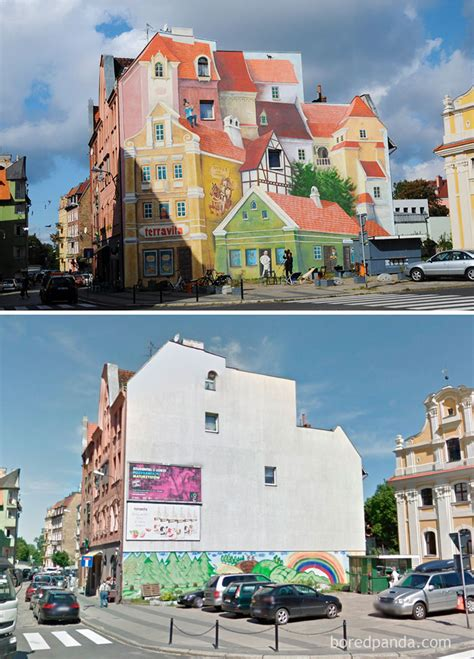 Contemporary Wall Murals 10 incredible before amp after street art transformations