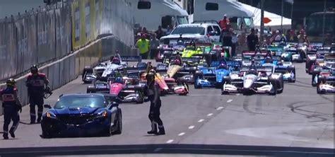 chevrolet corvette pace car crash   detroit indycar race    axles