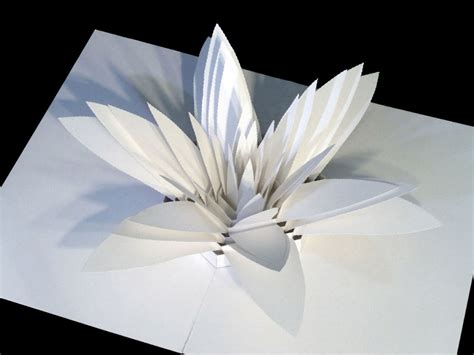 How To Make A Paper Sculpture Flower - intricate pop up sculptures are tiny feats of engineering