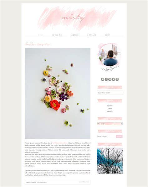 premade blogger template pink blog design pastel blog