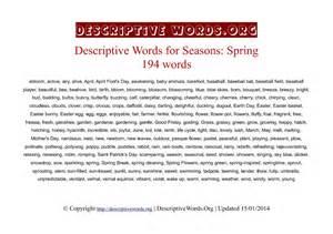 words descriptive words for descriptive