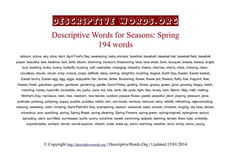 An Essay On Winter Season In Microsoft Word User Manual by Words Descriptive Words For Descriptive Words List Of Adjectives Word Reference