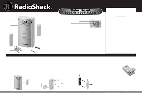 radio shack home security system 49 118 user guide