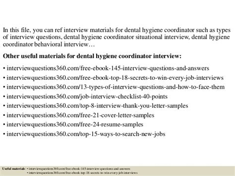 top 10 dental hygiene coordinator questions and