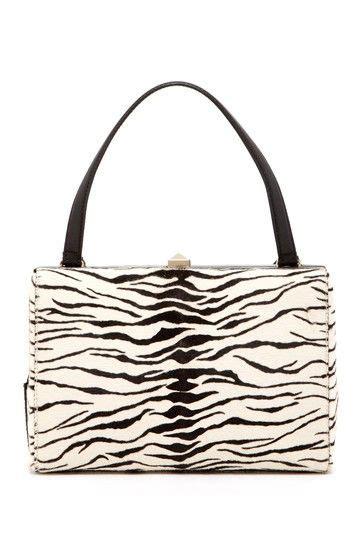 Valentino Animal Print Handbag by Valentino Zebra Print Studded Lock Handbag By Msa Haute