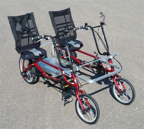 Black Bird Bicycle blackbird bikes ez quadribent side by side recumbent