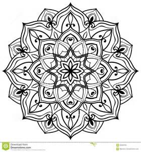 vector outline mandala stock vector image of embroidery