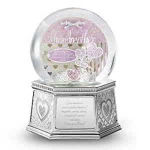 personalized engraved musical snow globe for grandmothers