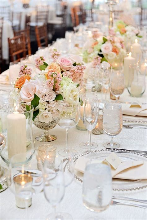 silver wedding table a gorgeous lakefront ceremony tented reception with