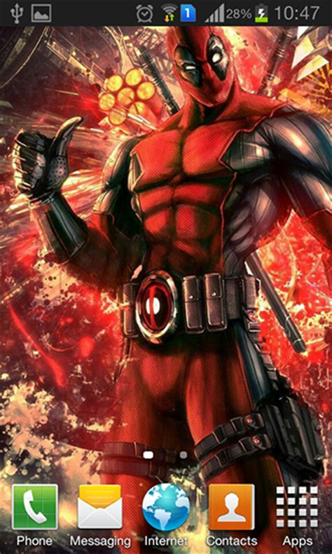 wallpaper android mob org deadpool live wallpaper for android deadpool free
