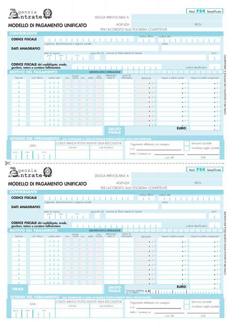 delega cassetto fiscale compilabile modello f24