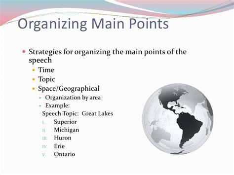 pattern of organization in speech organizational patterns for speeches