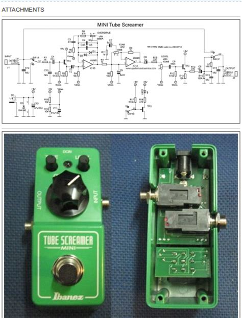 screamer mini schematic ibanez ts9 wiring diagram