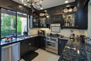 black cabinet kitchen ideas 25 remarkable kitchens with cabinets and granite