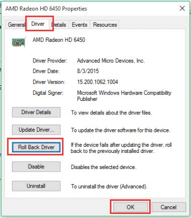 fix display graphics problems after windows 10