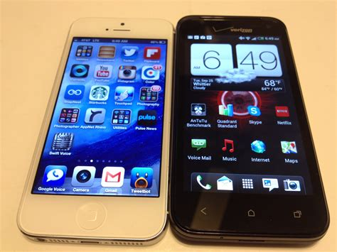 iphone 5 vs htc droid 4g lte review attmobilereview