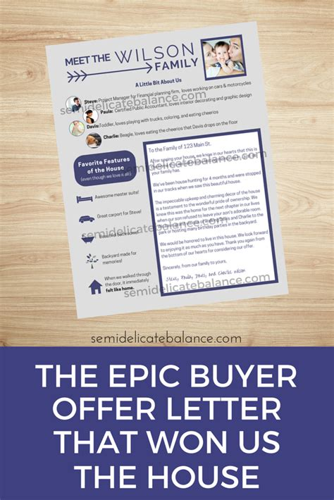 Offer Letter Home Buyer The Epic Buyer Offer Letter That Won Us The House Semi Delicate Balance