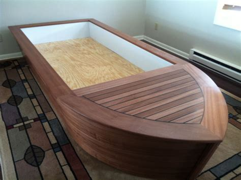 toddler boat bed custom mahogany boat bed for kids toddlers the hull