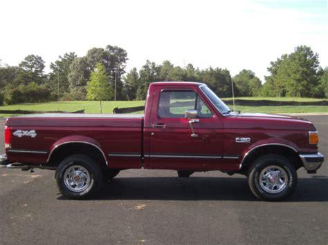 ford f150 regular cab short bed ford f 150 standard cab pickup 1990 burgundy for sale