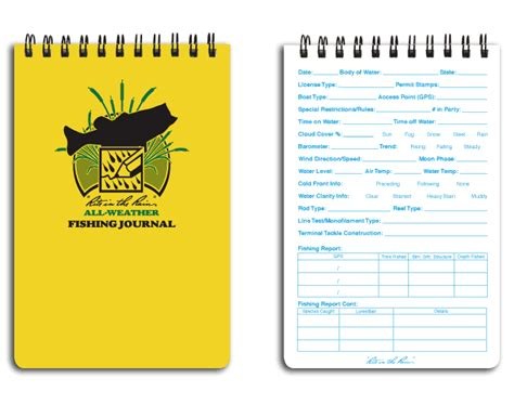 Fishing Journal Template by Bill Howard S Outdoors May 2012