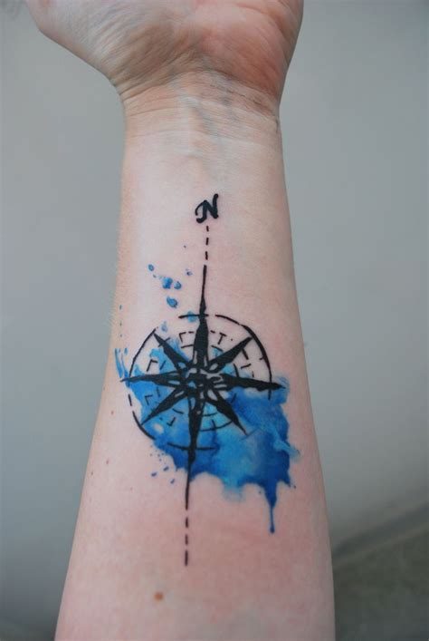 watercolor compass tattoo 17 best ideas about watercolor compass on