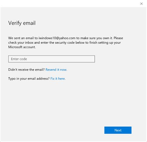 email microsoft account how to verify microsoft account email address in windows 10