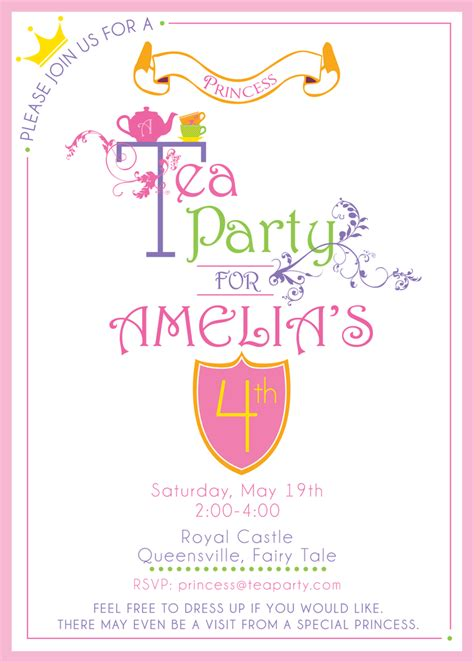 free princess tea invitation template wants and wishes printables princess tea
