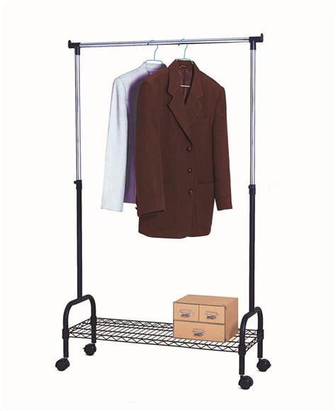 Metal Closet Rack by Adjustable Sturdy Metal Clothes Closet Rack In Black Cj