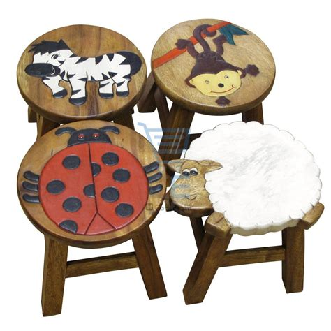 Animal Stool by Apollo Wooden Animal Foot Stool Ladybird Monkey Sheep
