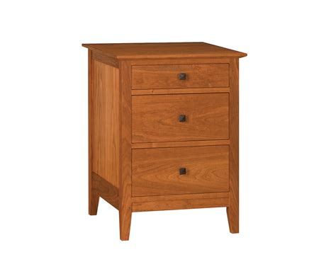 Cherry Nightstand With Drawers Dunning 3 Drawer Nightstand The Joinery Portland Oregon