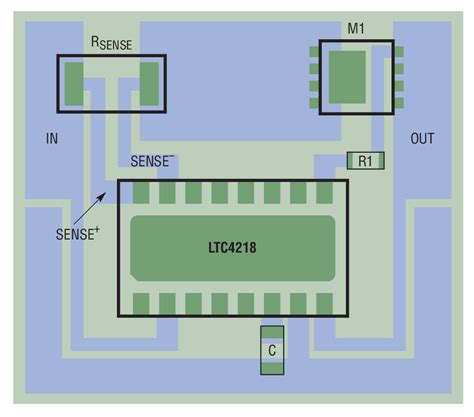 current sense resistor pcb layout solutions ltc4218 12v 100a design for server farms