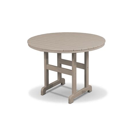Composite Patio Table Trex Outdoor Furniture Monterey Bay 36 In Sand Castle Patio Dining Table Txrt236sc The