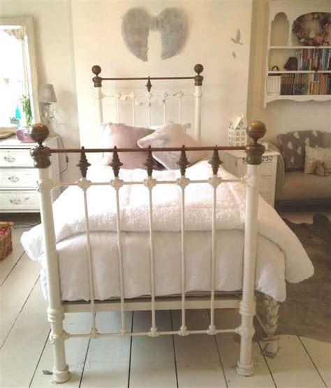 Shabby Chic Single Bed Frame 17 Best Wrought Iron Beds Images On Pinterest Antique Beds Bedrooms And A