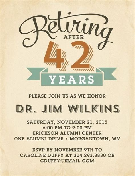 free retirement invitations templates 25 best ideas about retirement invitations on