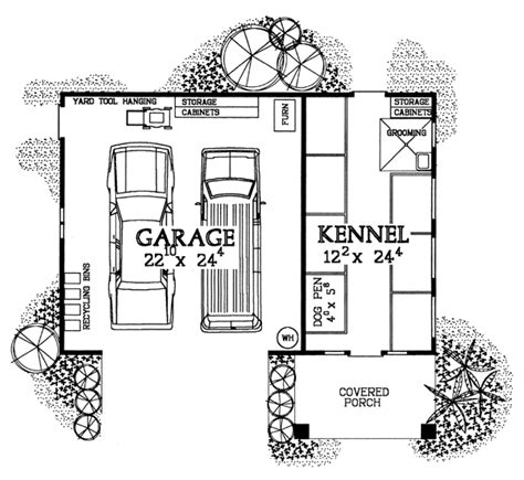 kennel floor plans garage plans with a dog kennel for breeders groomers and
