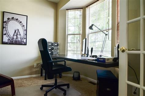 Home Office Desk Window Cantilevered Desk In Bay Window Labra Design Build