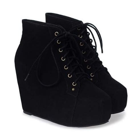 black velvet platform wedge booties boots shoes