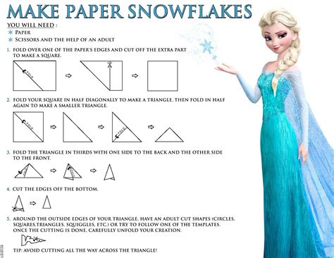 How Make Paper Snowflakes - free coloring pages of frozen pdf